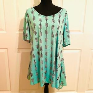 LulaRoe Perfect Tee Tunic Top Plus Size 2XL